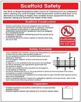 Scaffold Safety Wall Chart Rigid Plastic