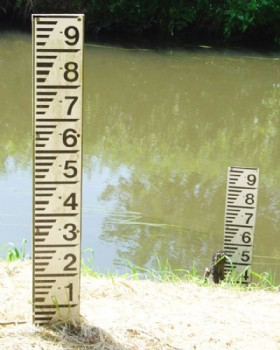Water Depth Gauge Board - Water Level Marker Sign