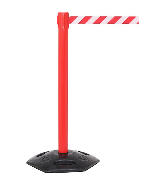 Weathermaster Retractable Barrier Post - Red