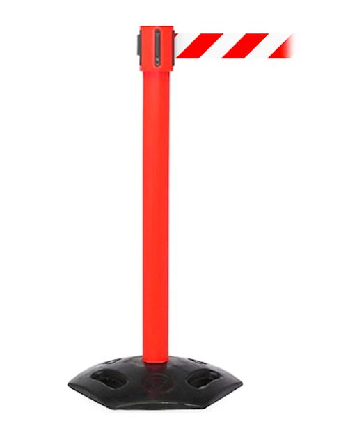 Weathermaster Retractable Barrier Post  XL - Red