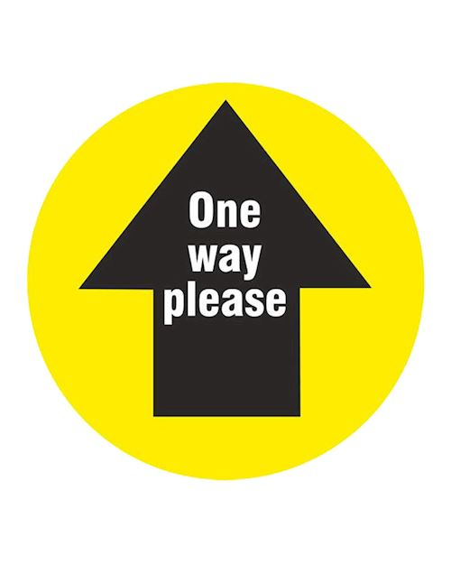 One Way Please Arrow - Anti Slip Floor Graphic