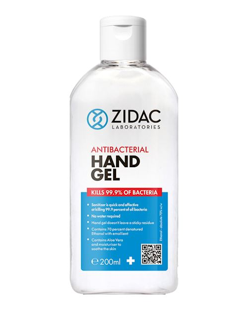 70% Alcohol Antibacterial Hand Gel - 200ml Pack of 12