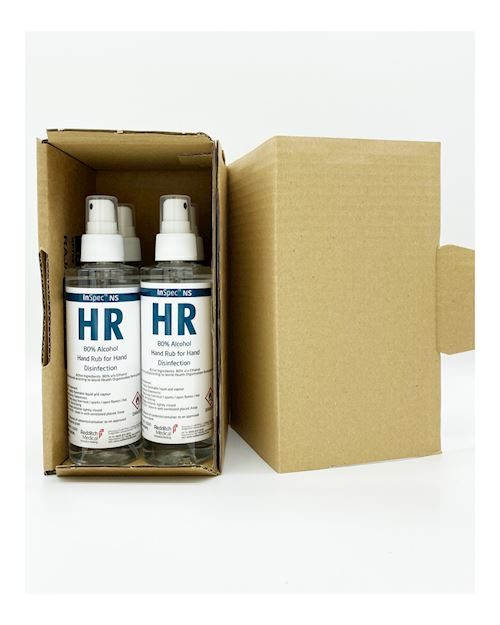 200ml 80% Alcohol Hand Rub Spray Bottle - Pack of 4