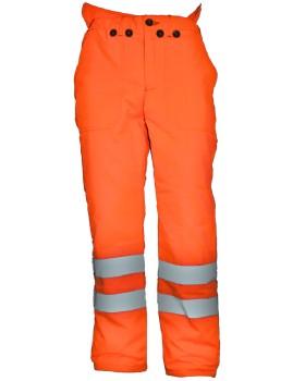 Hi - Vis Orange Chainsaw Trousers Network Rail - RIS-3279-TOM