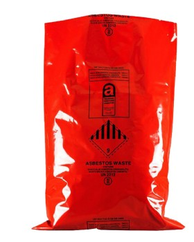 Asbestos Disposal Sack Red Printed With Hazard Label Pk10
