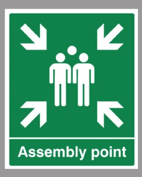 Assembly Point Sign  On  Rigid PVC