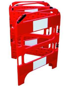 Folding Barrier - 4 Gate Safegate Manhole Barrier