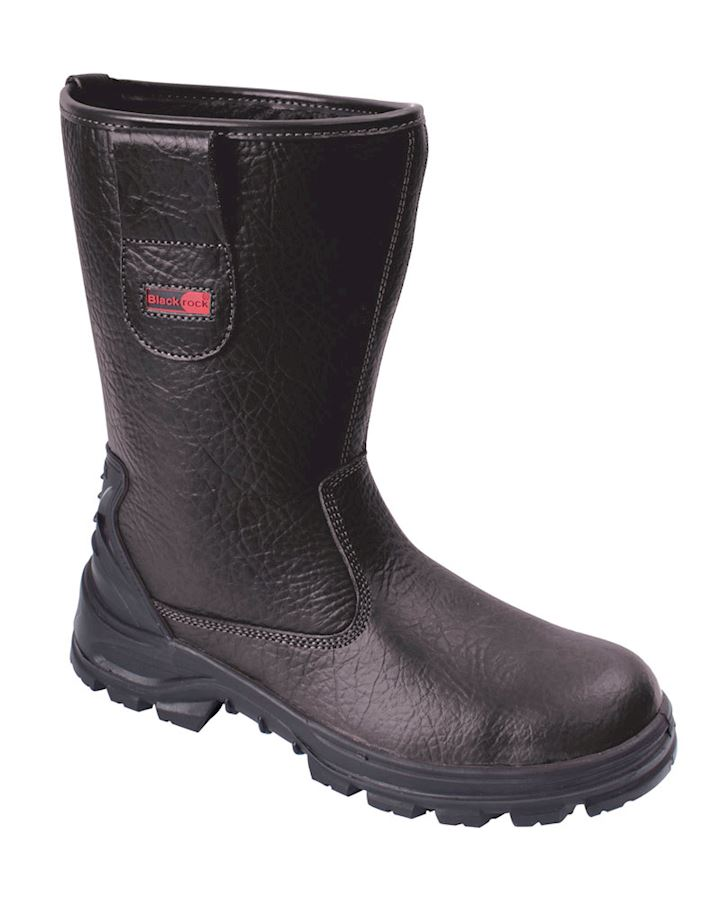 Black Rigger Boots Fur Lined - Steel Toe & Midsole By Blackrock
