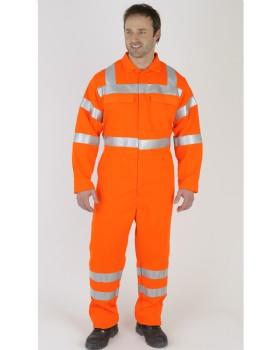 Hi-Vis Orange Flame Retardant Boiler Suit Network Rail RIS-3279-TOM