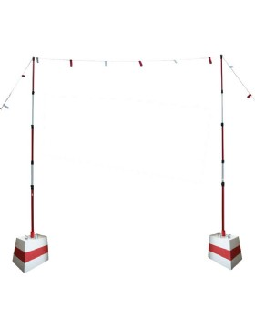 Overhead Cable Goalposts Set - Height Restriction System