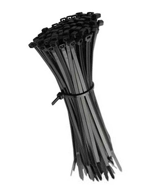 Cable Tie Pack Of 100 300mm Long Zip Ties