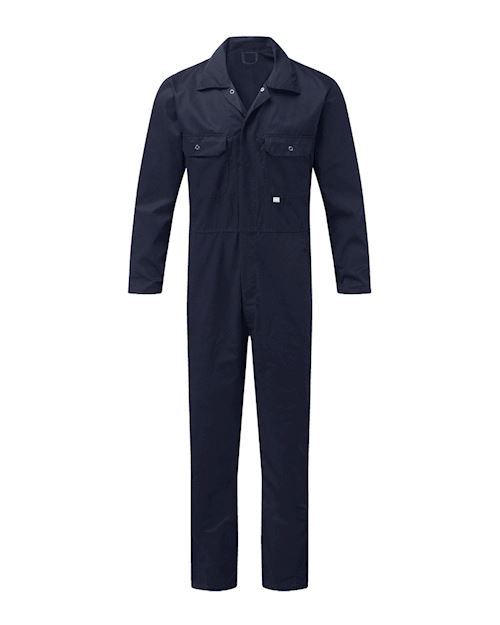 Navy Stud Front Coverall - Boiler Suit
