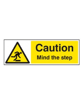 Mind The Step Sign Self Adhesive Vinyl