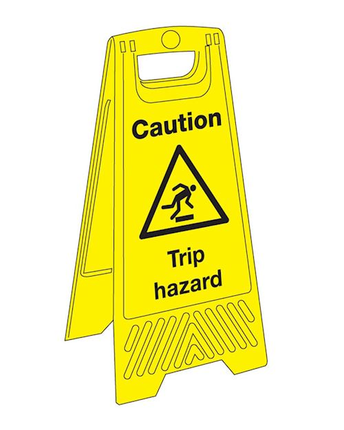 Caution Trip Hazard 'A' Board Sign