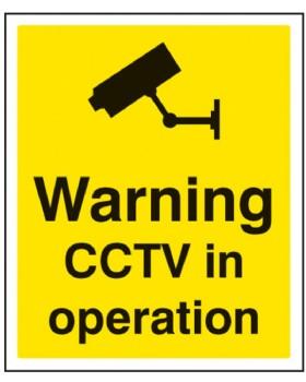 Warning CCTV In Operation On Sign Rigid PVC