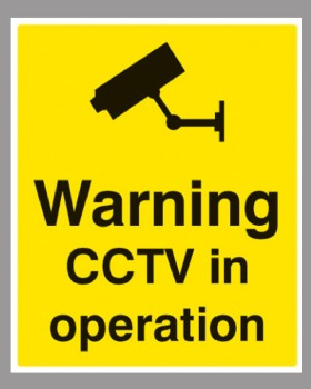 Warning CCTV In Operation On Sign Rigid PVC