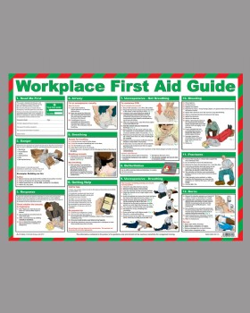Workplace First Aid Guide Wall Chart