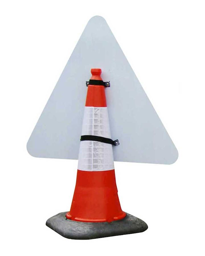 Traffic Lights Ahead  Road Sign - Cone Mounted