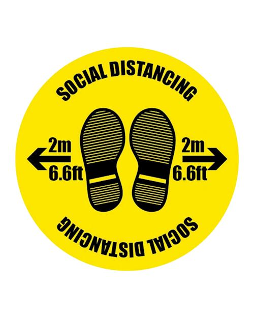 2 Metres Social Distancing Floor Sign
