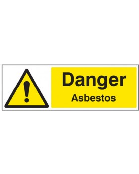 Danger Asbestos On Rigid PVC
