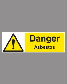 Danger Asbestos On Rigid PVC