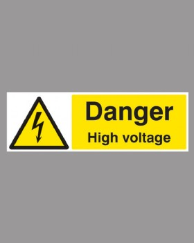 Danger High Voltage On Rigid Plastic