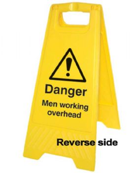 Danger Men Working Overhead Sign - Freestanding A Board