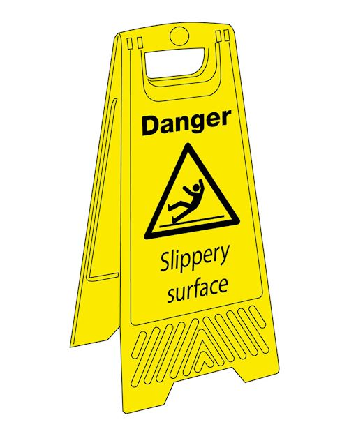 Caution Slippery Surface 'A' Board Sign