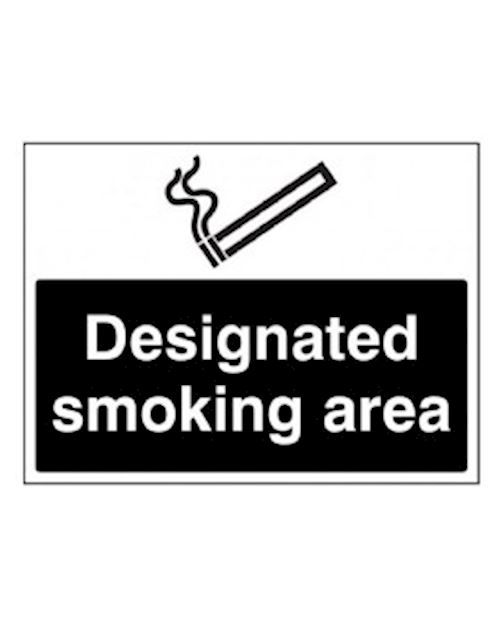 Designated Smoking Area  Self Adhesive Vinyl