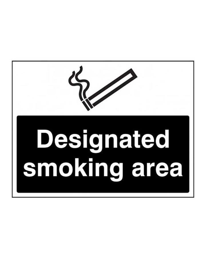Designated Smoking Area Rigid Plastic