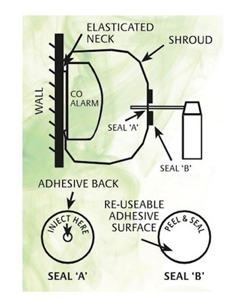 Carbon Monoxide Alarm Test Gas Kit - 400ml