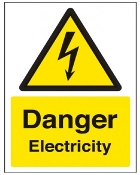 Danger Electricity Sign Rigid Plastic