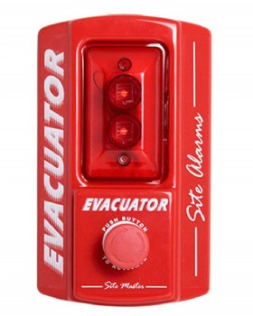 Evacuator Site Alarm Push Button Activated