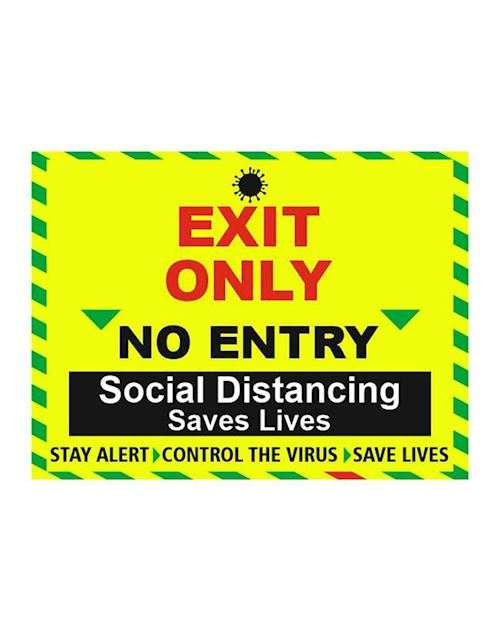 Exit Only Building Sign - Vinyl