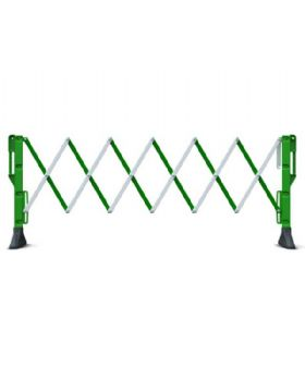Expanding Portable Barrier Green And White