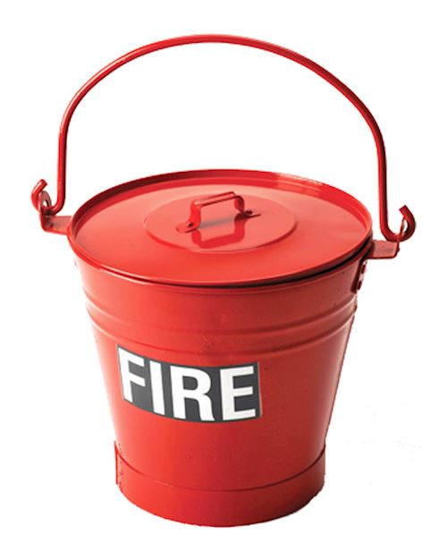 Fire Bucket Metal Red