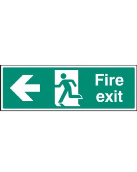 Fire Exit Left Sign