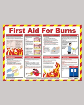 Burns Treatment - Action Wall Chart