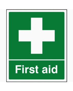 First Aid Sign Self Adhesive Vinyl