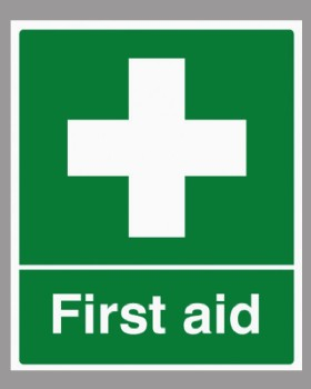 First Aid Sign Rigid Plastic