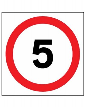 5mph Sign