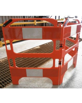 Folding Barrier - 3 Gate Safegate Utility Barrier