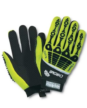 Hexarmor 4026 Impact Hi Vis Chrome Series Glove