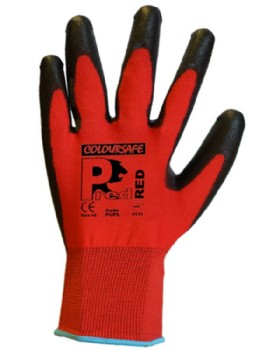 Pred-Red PU Gloves Cut Level 1