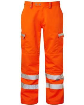 Hi Vis Orange Network Rail Trousers - RIS-3279-TOM Regular Leg