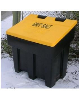 Grit Bin Heavy Duty Black With Yellow Lid