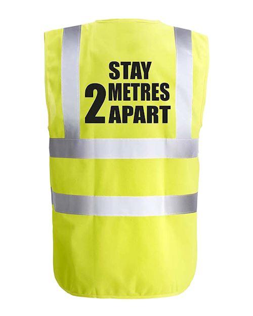 2 Metres Apart Hi-Viz Vest