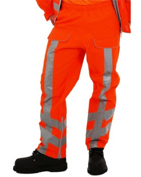Hi Vis Orange Waterproof Breathable RIS-3279-TOM  Trousers