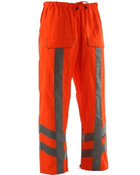 Hi Vis Orange Waterproof RIS-3279-TOM Trousers