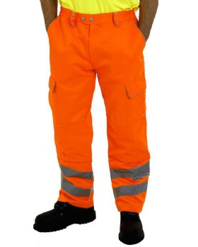 Hi Vis Orange Trousers Network Rail RIS-3279-TOM  Tall Leg